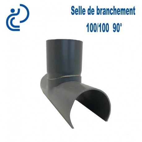 selle de branchement 100x100 a 90 pvc a coller