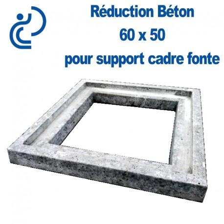 reduction beton 60x50 pour support cadre fonte
