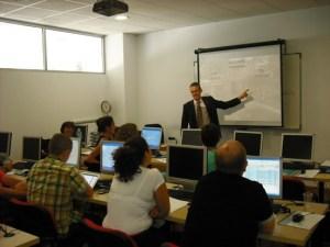 Foto Luis Folgado durante un curso