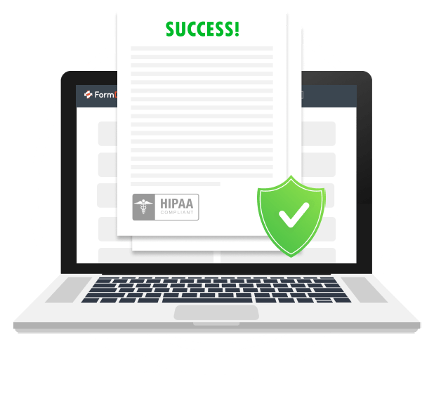 HIPAA Compliant Online Intake Forms Header