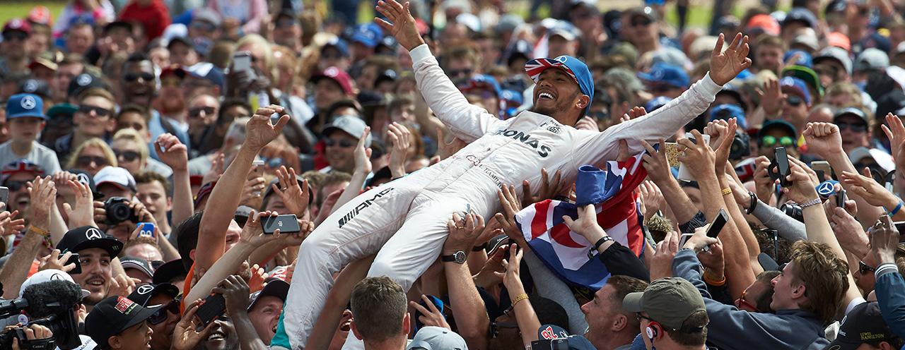 Lewis Hamilton - vinnare Storbritanniens GP 2016