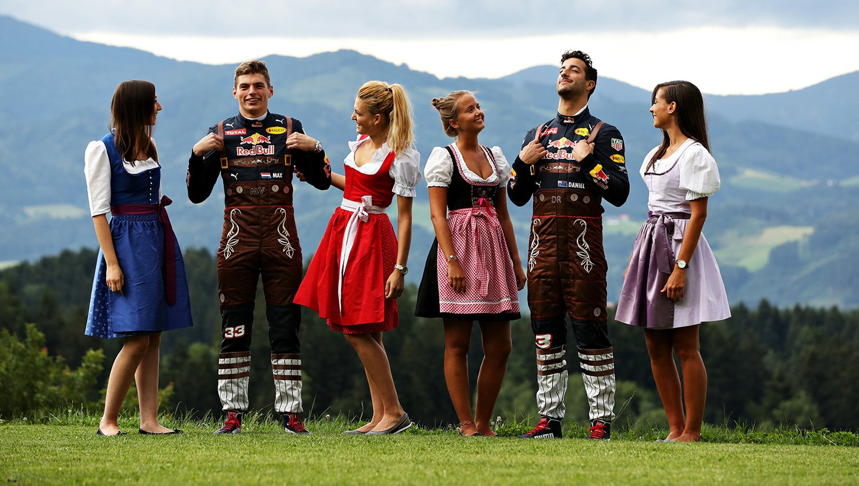 Red Bull Racing förarna Österrikes GP