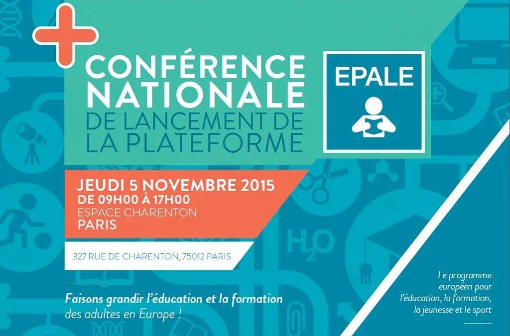 Conférence EPALE : le lancement
