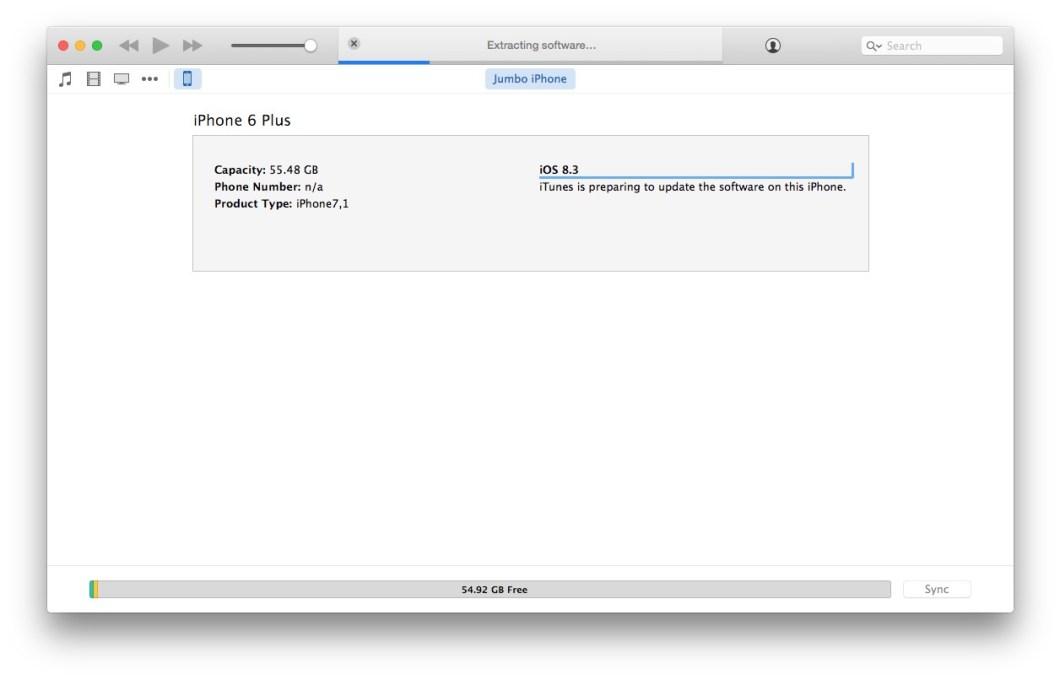 Mise à jour vers iOS 9 avec le firmware IPSW dans iTunes
