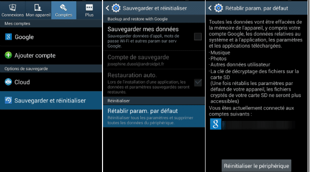 formater samsung galaxy S4