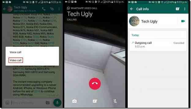 whatsapp activer appel video