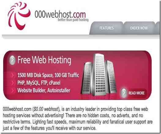 000webhost hebergement web gratuit