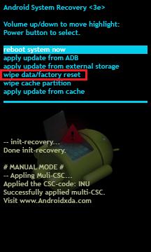 formater un telephone mode de récupération