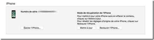 Comment activer le mode DFU sur iPhone 7