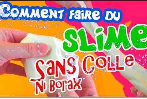 Comment faire boue sans borax ou colle