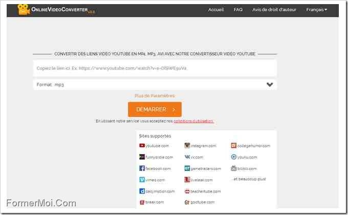 Convertisseur vidéo en ligne Convertisseur vidéo en ligne