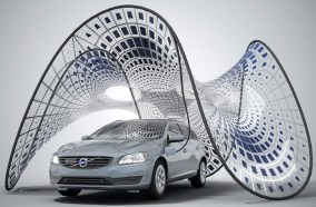 Volvo uses strain energy to create a deployable solar pavilion [2]