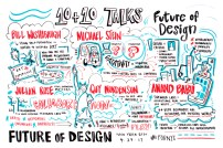 Virginia Montgomery graphically recorded presentations and panel discussions at Future of Design 2017.