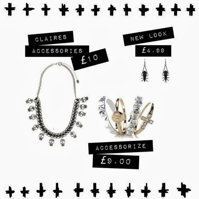 Inspire Magazine Online - UK Fashion, Beauty and Lifestyle Blog: Subtle ways to channel your inner Halloween freak, accessorize, asos, new look, claires accessories, halloween, inspire magazine online