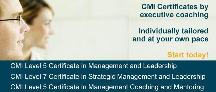 CMI qualifications via coaching