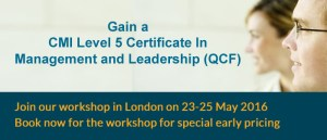 CMI Certificate workshop