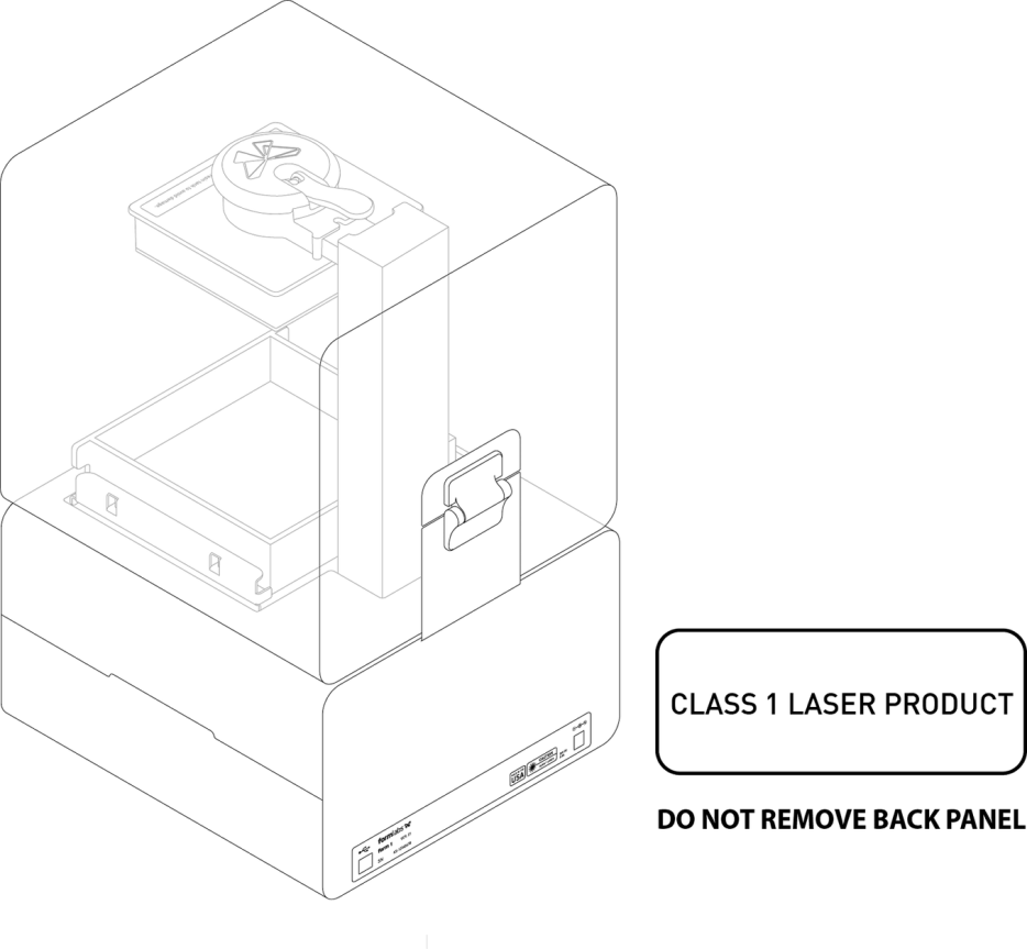 Class 1 Laser Product - Do Not Remove Back Panel