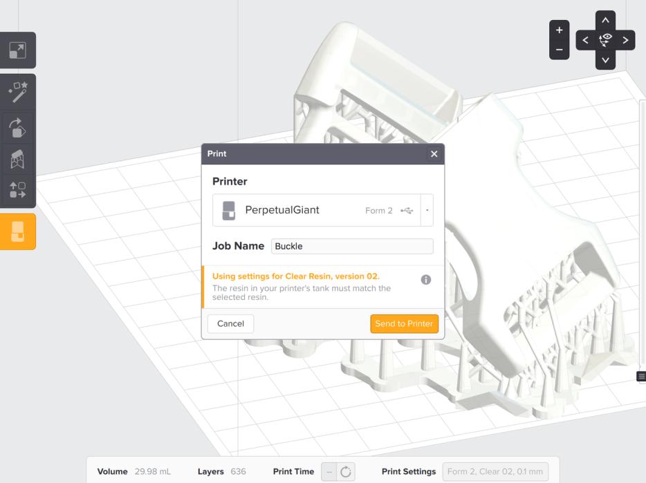 Use the Print menu to send a file to the printer