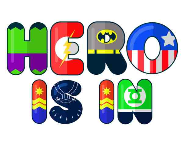 customizable superhero signs and names