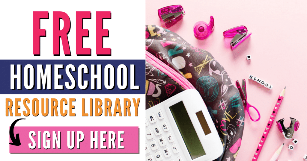 free homeschool printables resource library
