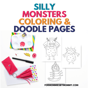 40 Silly Monster Coloring Pages And Doodle Pages For Kids