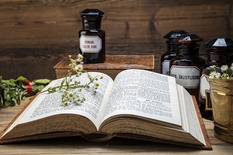 Natural medicine with book