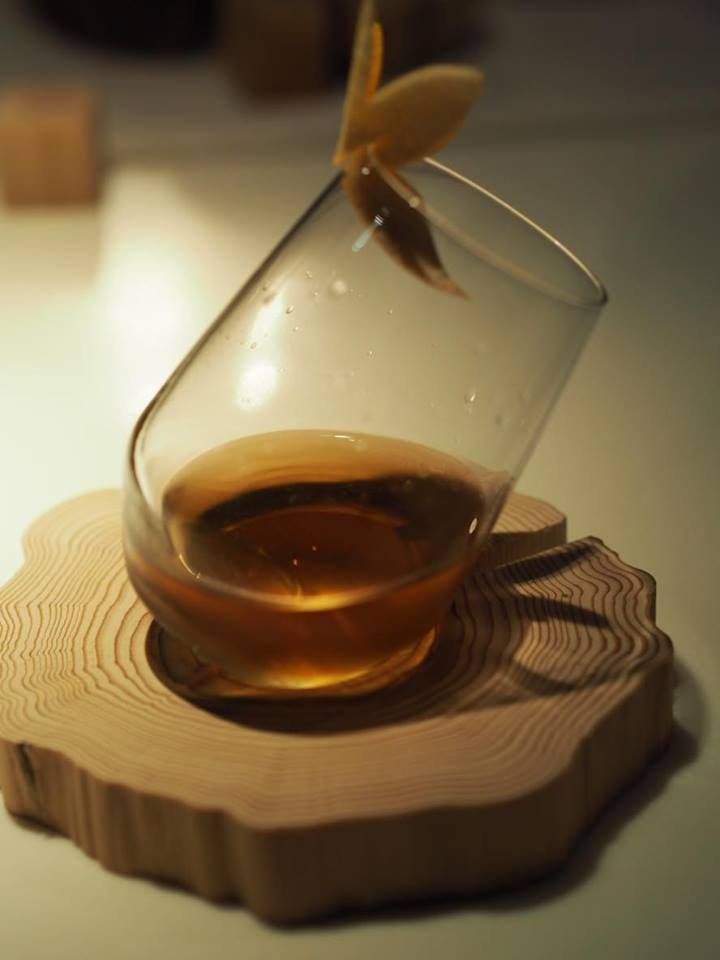 One of the wood fragrance cocktails from WA-SHU