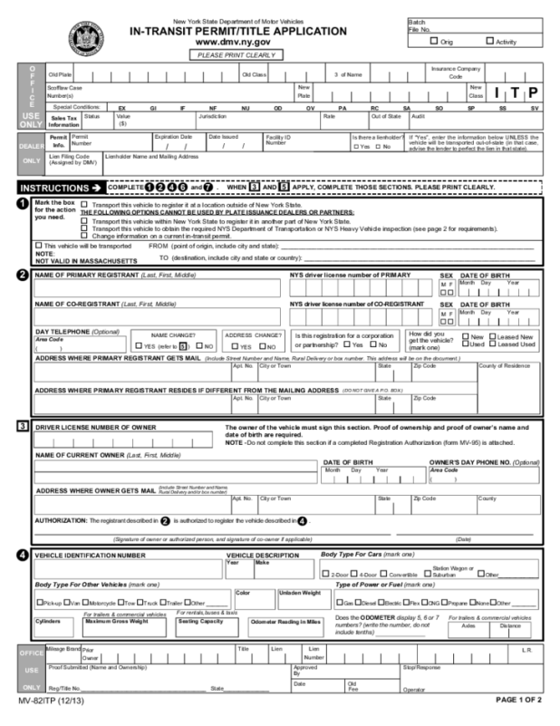 Ny Dmv Bill Of Form Source For Le And Registration