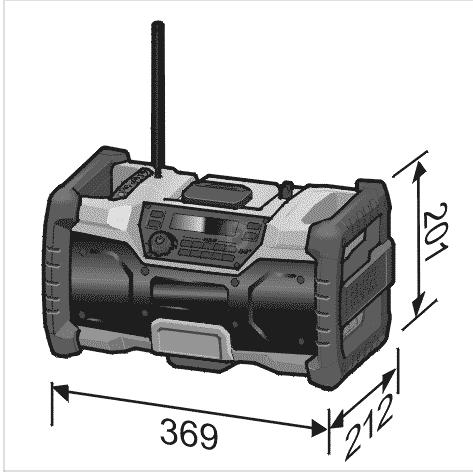 FLEX RADIO DE CHANTIER 18V RD - FORMULA DETAILING