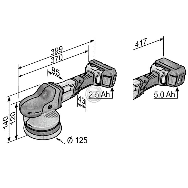 POLISSAGE FLEX XCE 8 125 18.0-EC/5.0 P-SET - FORMULA DETAILING