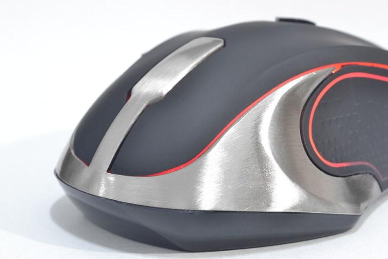 Natec Genesis GX75 aluminio rojo