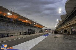 The Pit Lane on the Bahrain International Circuit