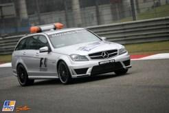 A Mercedes AMG Safety Car