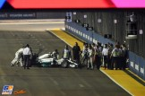 Nico Rosberg (Mercedes AMG F1 Team, F1 W05) is being moved into the Pitlane