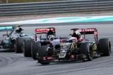 Romain Grosjean (Lotus F1 Team, E23 Hybrid), Carlos Sainz Jr. (Scuderia Toro Rosso, STR10) and Nico Rosberg (Mercedes AMG F1 Team, F1 W06 Hybrid)