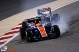 Rio Haryanto (Manor Racing Team, MRT05) and Nico Hülkenberg (Force India F1 Team, VJM09)
