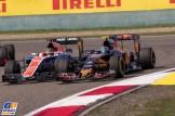 Pascal Wehrlein (Manor Racing Team, MRT05) and Carlos Sainz Jr. (Scuderia Toro Rosso, STR11)