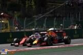 Sebastian Vettel (Scuderia Ferrari, SF16-H) and Max Verstappen (Red Bull Racing, RB12)