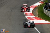 Romain Grosjean (Haas F1 Team, VF-16) and Sebastian Vettel (Scuderia Ferrari, SF16-H)