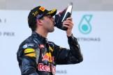 Daniel Ricciardo (Red Bull Racing) celebrating his Race Win with a Shoey