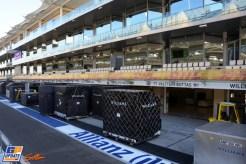 The Pit Boxes for Felipe Massa and Valtteri Bottas, Williams F1 Team