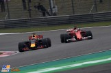 Daniel Ricciardo (Red Bull Racing, RB13) and Sebastian Vettel (Scuderia Ferrari, SF70-H)