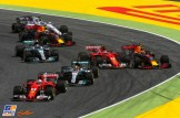 Kimi Räikkönen (Scuderia Ferrari, SF70-H) and Max Verstappen (Red Bull Racing, RB13)