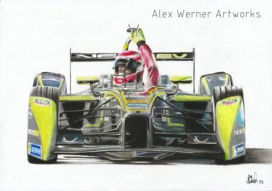 Artwork of Piquet's first win.