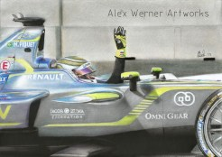 Artwork of Piquet's second win.