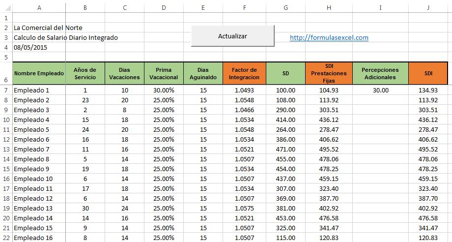 Calcular Sdi En Excel Formulas Excel