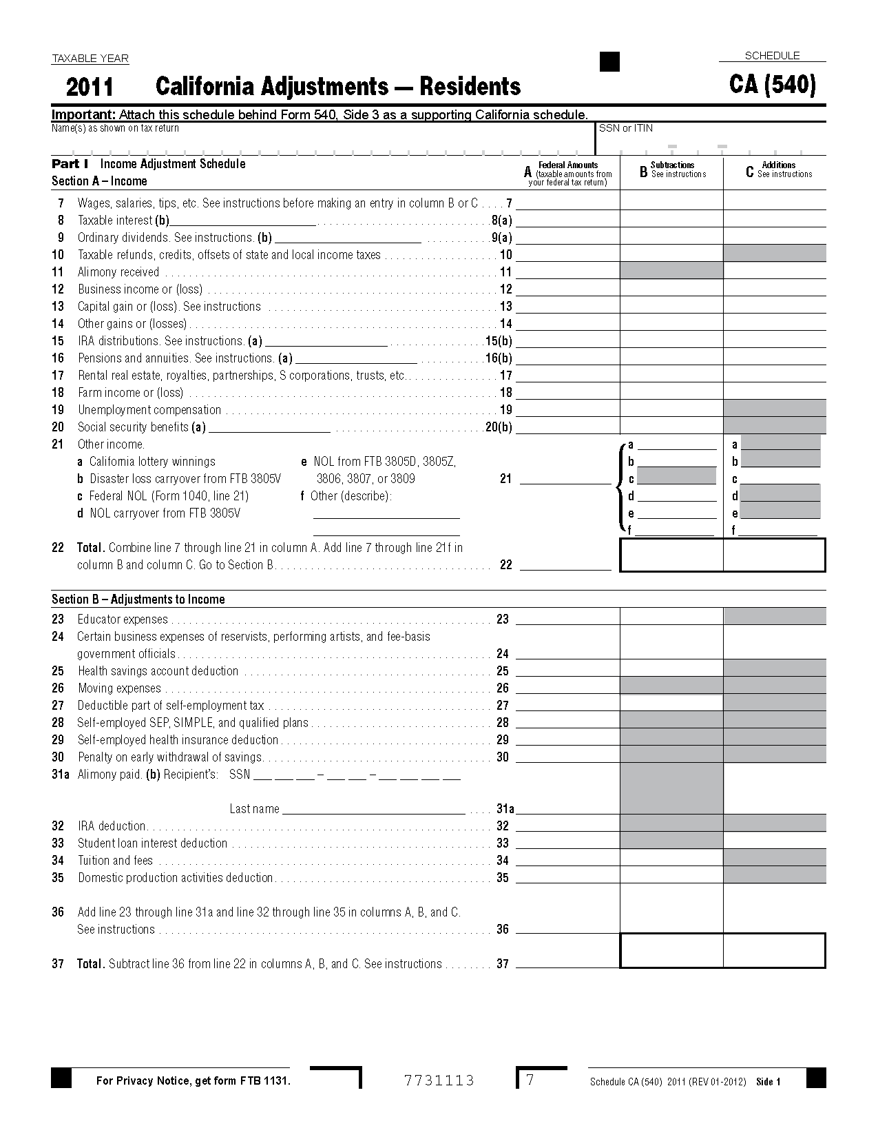 Worksheet Schedule A Itemized Deductions Worksheet