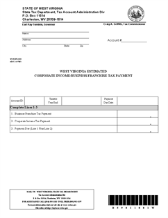 Form Cnf 120 Es Estimated Corporate Income Business
