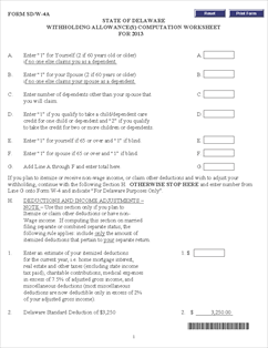 Form W 4 Withholding Tax