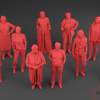Low Poly womenset